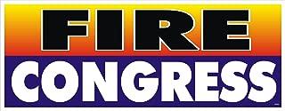 Anti Obama Political Bumper Sticker - Fire Congress