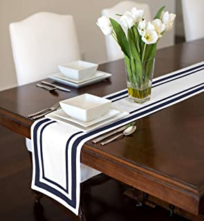 Best navy and white table runner Reviews