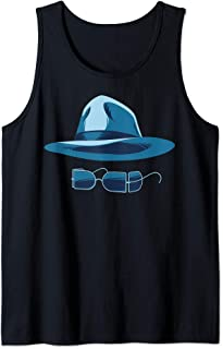 The Invisible Man Hat And Glasses Tank Top
