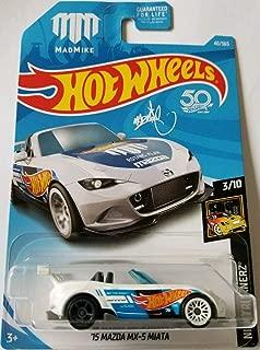 Hot Wheels 2018 50th Anniversary Nightburnerz 15 Mazda MX-5 Miata (Mad Mike) 40/365, White