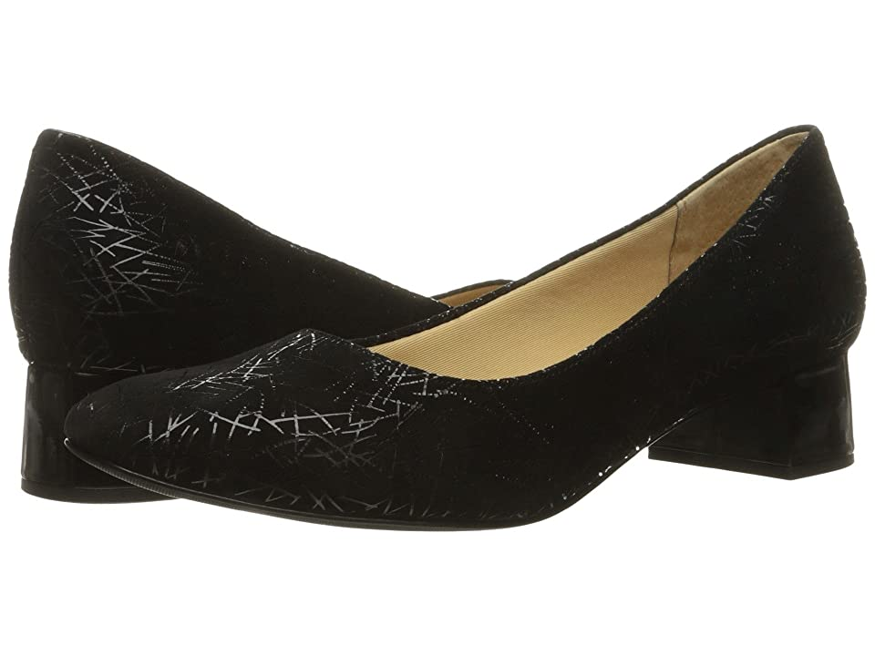 Trotters Lola (Black Graphic Embossed Leather) Women