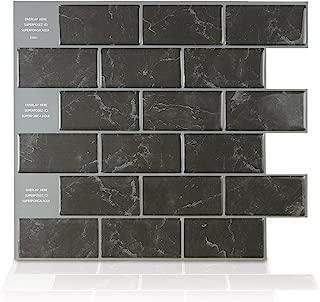 Smart Tiles Peel and Stick Backsplash and Wall Tile Subway Marbella (Pack of 4)