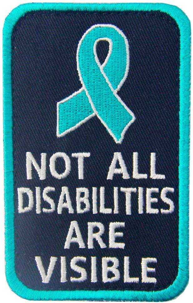 Max 45% OFF Antrix Not All Disabilities are Large discharge sale Visible Service Patch Ve Dog