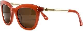 Sunglasses Moncler MC544 S02 Red cateye sunglasses Size:50-21-140