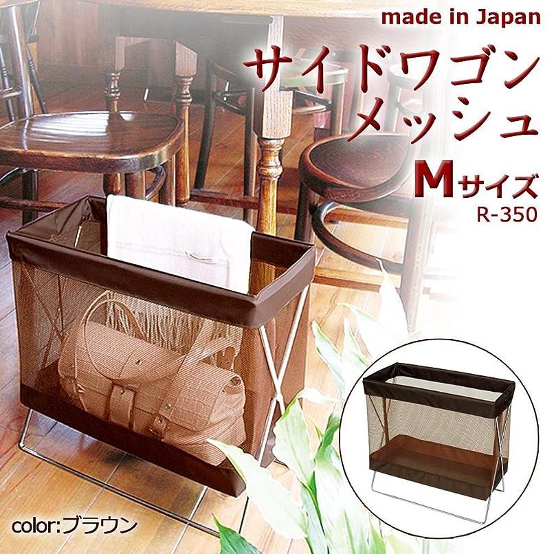 フラスコ氷入場料日本製 SAKI(サキ) サイドワゴン メッシュ Mサイズ R-350 BR(ブラウン)