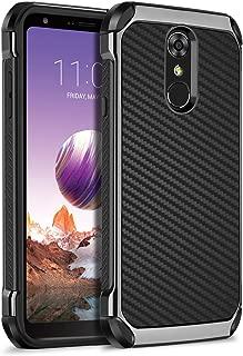 LG Stylus 4 Case, LG Stylo 4 Case, LG Q Stylus Case,LG Stylo 4 Plus Case, BENTOBEN Shockproof Heavy Duty Hard PC Cover Soft TPU Bumper Protective Carbon Fiber Texture Phone Case for LG Stylo 4, Black