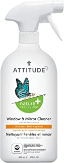 ATTITUDE Hypoallergenic Window & Mirror Cleaner, Citrus Zest, 27.1 Fluid Ounce