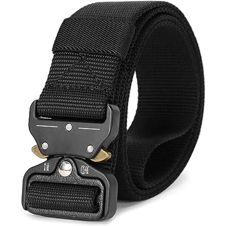 Tactical Heavy Duty Belt JASGOOD Men Military Webbing Belt 1.5 inch Quick-Release Riggers Web Belt with Metal Buckle
