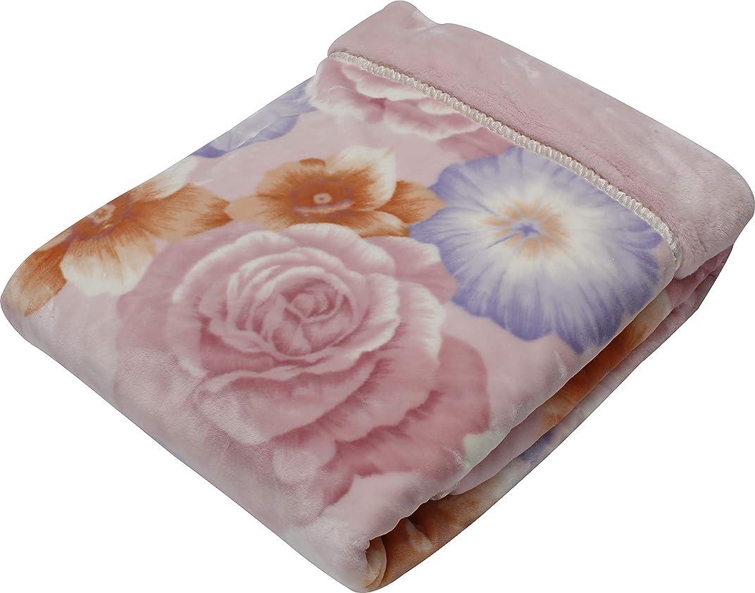 デクリメント現実には融合西川(Nishikawa) 毛布 ピンク ダブル 180×210㎝ 日本製合わせ毛布 洗える ダブルサイズ アクリル ファー 2K2472D