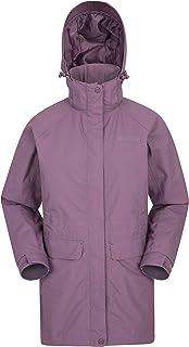 Mountain Warehouse Glacial Chaqueta Impermeable para Mujer - con Costuras Selladas, Transpirable para la Lluvia, Capucha D...