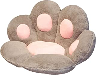 XeinGanpre – Cojín de asiento con diseño de pata de gato – Cojín de silla de oficina, cómodo cojín en forma de pata de oso – Cojín de asiento cómodo (gris, medio)