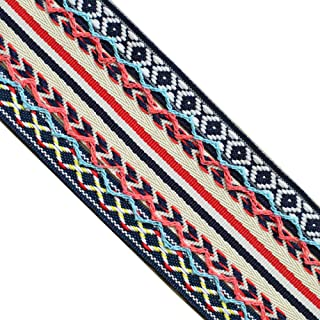 3 Yd Ethnic Embroidery Fringe Jacquard Ribbons for DIY Craft Cloth Accs 20mm