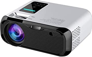 SQPFTW Mini WiFi Projector, 6000 Lumens Portable Video Projector with 1080P Full HD Supported, Android Home Movie Projecto...