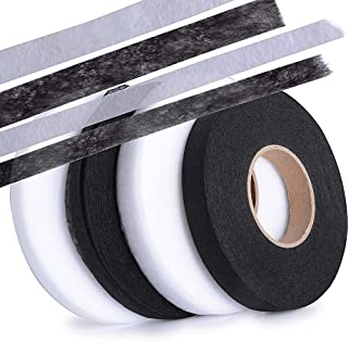 comprar comparacion 256m Cinta de Dobladillo Adhesiva Planchar sin Coser Fusible Fusión de Tela para Ropa Manualidades Ancho 1cm, 1.5cm, 4 Rol...