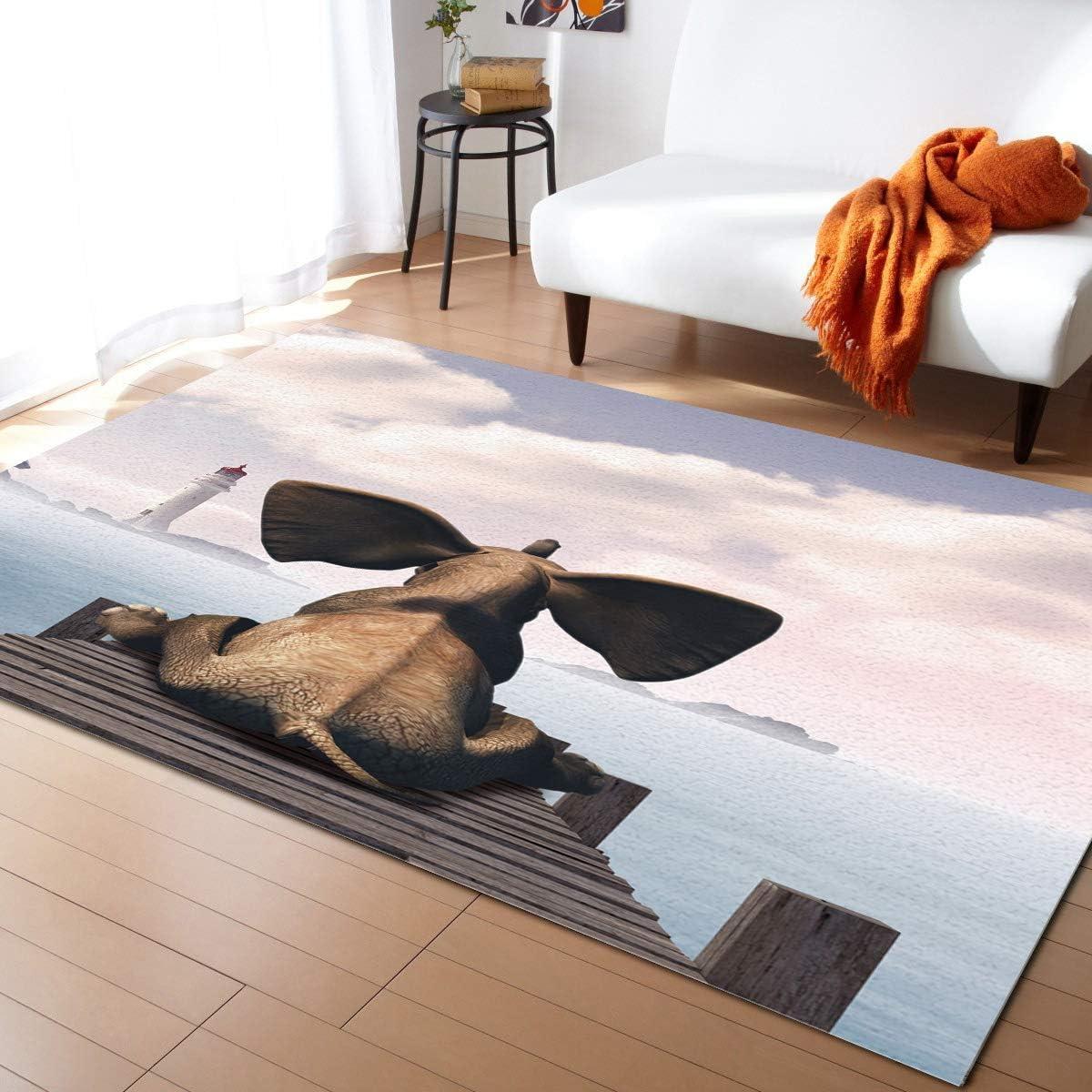 ARTSHOWING Funny Animal Luxury goods Large Area Rug 3' x Durable 2' O Indoor OFFer