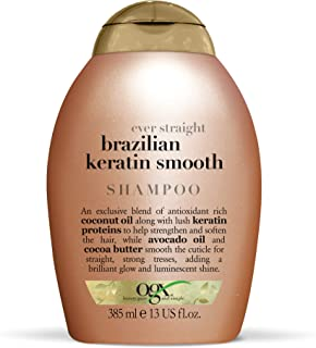 OGX Ever-Straightening + Brazilian Keratin Therapy Shampoo, 13 Ounce