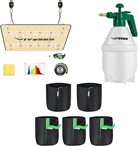 popular VIVOSUN VS1000 LED Grow Light, 5-Pack 2 Gallon Grow Bags with discount 0.4Gallon Hand held discount Sprayer online sale