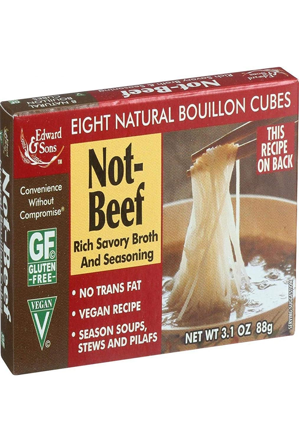 Edward 2021 autumn and winter new Sons Not Beef Bouillon oz 3.1 Max 52% OFF Cubes