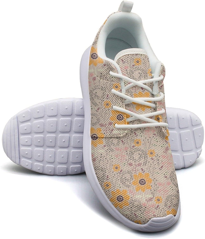 Sunflower Painting Women's Lightweight Mesh Tennis Sneakers Retro Tennis shoes