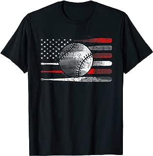 American Flag Baseball Balls Tshirt Catchers Pitchers League