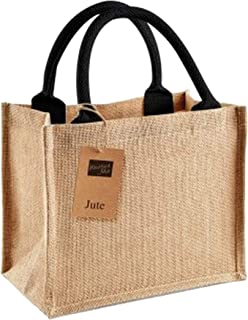 Westford Mill Jute Mini Gift Bag (6 Litres) (Pack of 2)