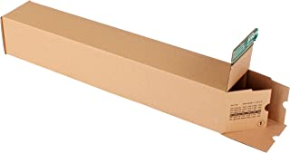 progressPACK Premium PP LB10.04 Postage Boxes - Corrugated Cardboard - DIN A1-610 x 105 x 105 mm - Pack of 10 - Brown