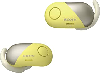 Sony WF-SP700N Wireless Noise Cancelling Headphones for Sports, Yellow, one-size