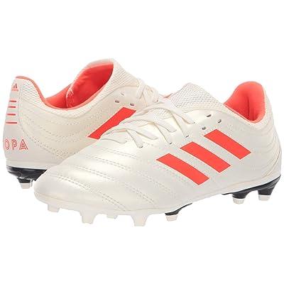 adidas Kids Copa 19.3 FG Soccer (Little Kid/Big Kid) (Off-White/Solar Red/Black) Kids Shoes
