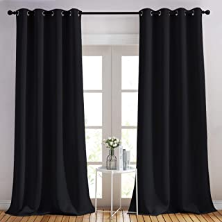 Scandinavian Vintage Curtain Panel W46x L82 Light Gray /& Sage Curtain; 82 Long Curtain Tab Top Unlined Curtain Panel
