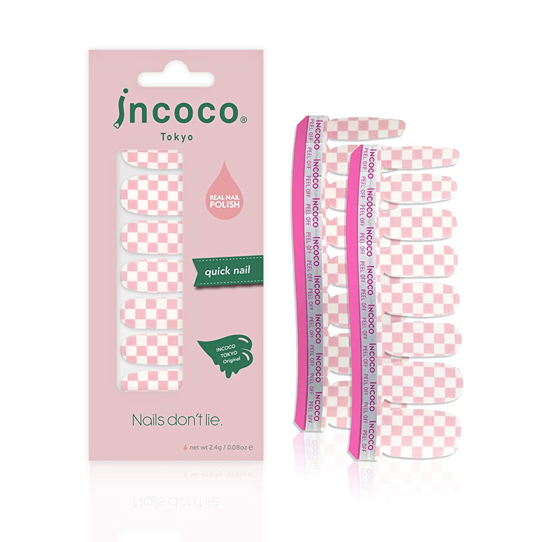 おとなしい防水先行するインココ トーキョー 「ピンク チェッカー」 (Pink Checker)