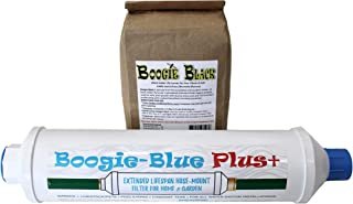 New 2018 Design - Boogie Blue PLUS High Capacity Water Filter for garden, RV and outdoor use -Removes Chlorine, Chloramine...