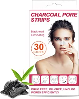 30 Blackhead Remover Strips, Regalico Charcoal Deep Cleansing Pore Nose Strips, Instant Pore Unclogging Blackhead Removal