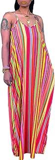 SheKiss Women's Casual Sexy Summer Stripe Bodycon Long...