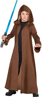 Costumes USA Star Wars Brown Jedi Robe for Children, Standard Size, in Brown, With Long Sleeves and an Oversized Hood