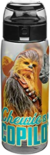 Zak Designs STAQ-K950 Han Solo A Star Wars Story Chewie Is My Copilot Reusable Plastic Water Bottle, 25 Ounce, Multicolored