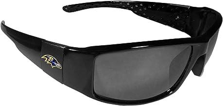 NFL Baltimore Ravens Wrap Sunglasses, Black
