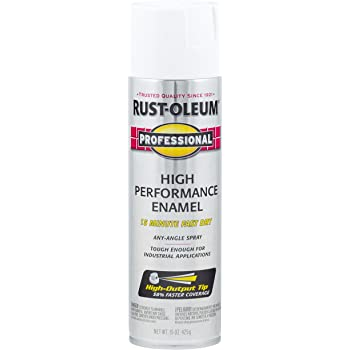 Rust-Oleum 7592838 Professional High Performance Enamel Spray Paint, 15 oz, Gloss White