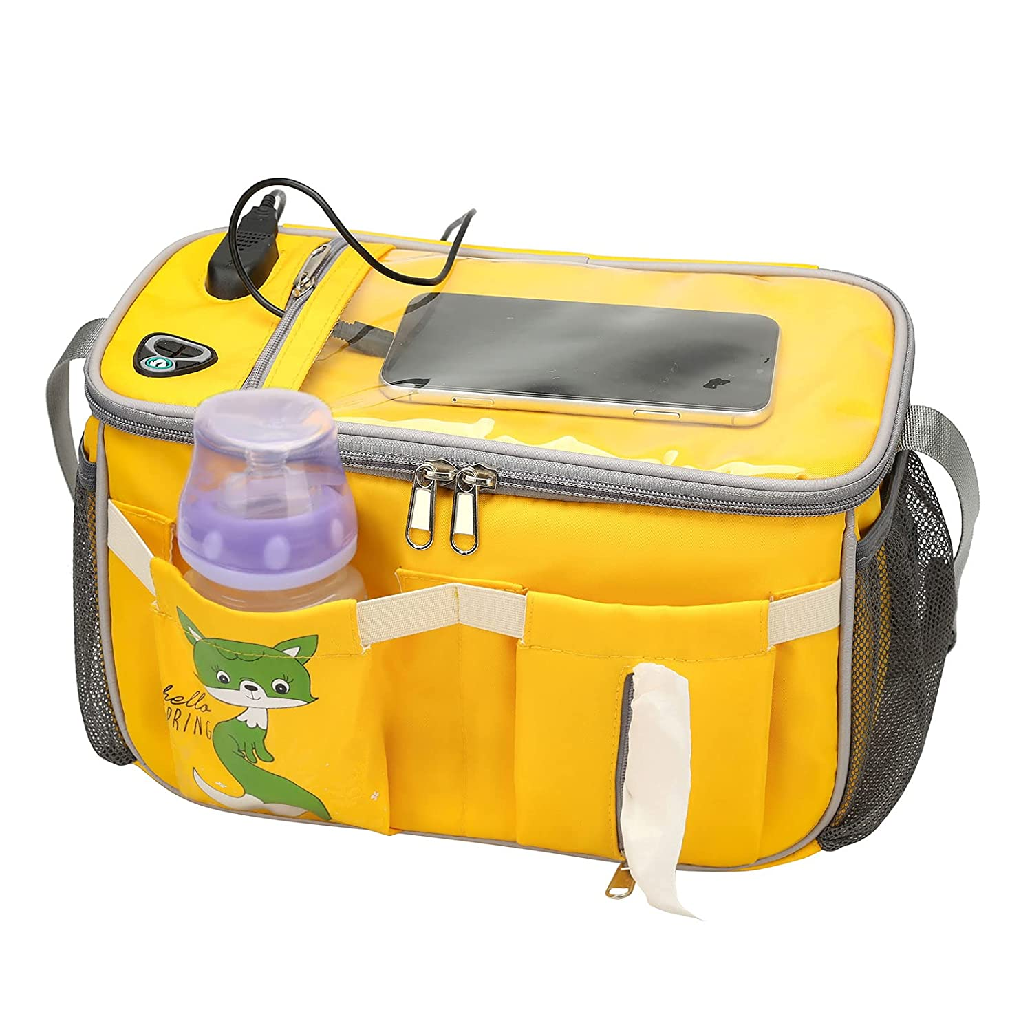 Pretty Jolly Multifunctional Diaper Bag Portable Baby Bag with Shoulder Strap (Yellow)