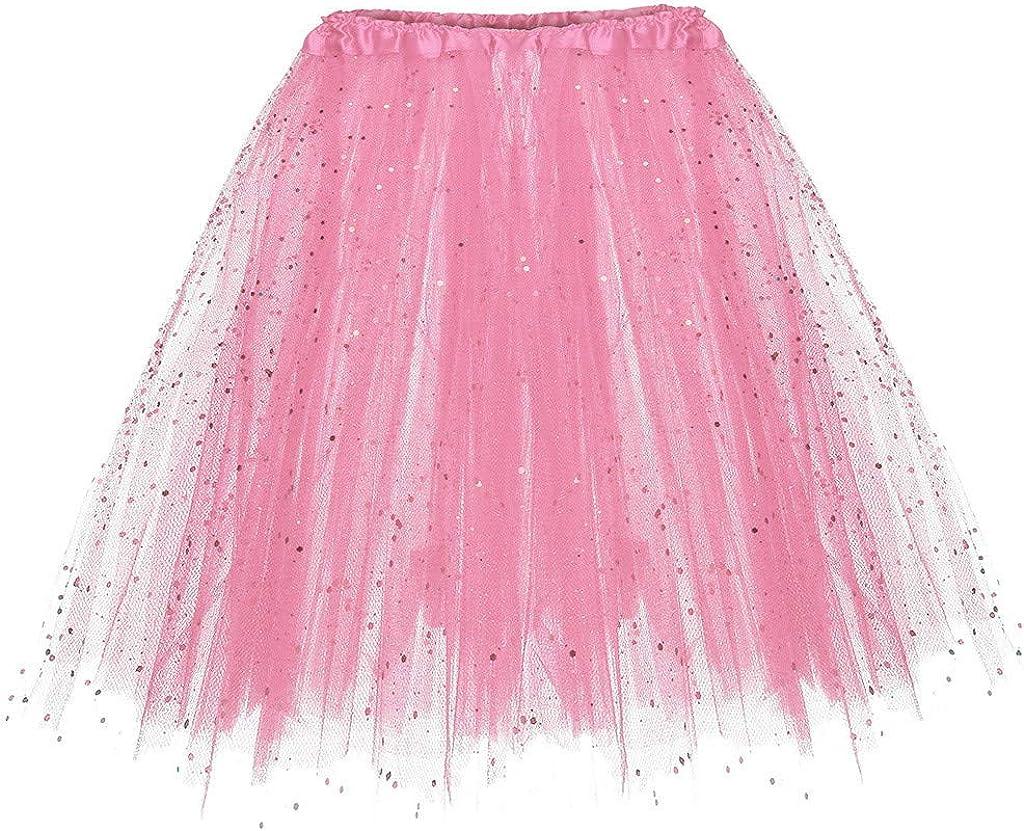 UOFOCO Pleated Gauze Short Skirt Women Adult Tutu Dancing Skirt