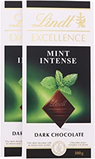 LINDT CHOCOLATE EXCELLENCE MINT INTENSE 100 GM (Pack of 2)