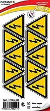 Novap - pictogram - elektrisch gevaar - plaat 10 pictogrammen lijm driehoek 50 mm