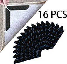 Rug Gripper, Upgraded Washable Removable Non Slip Rug Grippers,16 PCS Double Sided Anti Curling Corner Carpet Tape, Keep Y...