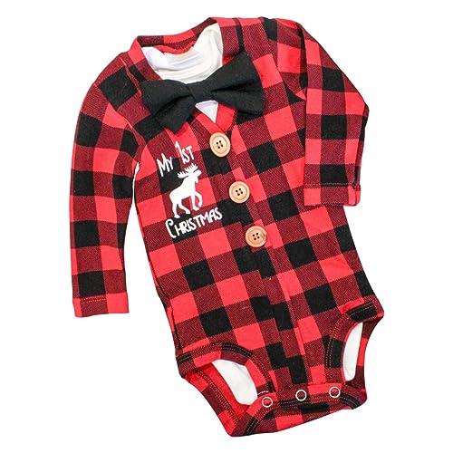 Newborn Baby Boy Clothes Crew Letter Print Romper+Long Pants+Hat 3PCS  Outfits Set - Newborn Christmas Outfits Boy: Amazon.com