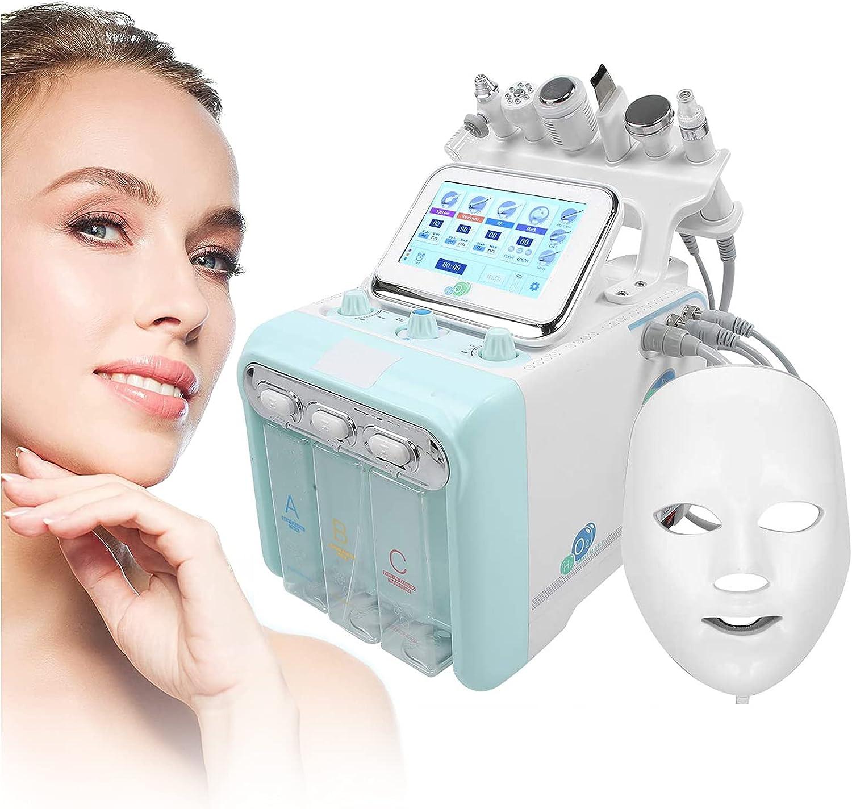 ZFAZF Máquina Multifunción Belleza Facial Oxígeno Hidrógeno, Rociador Facial Dermoabrasión Oxígeno Agua Burbuja Pequeña, Mascarilla LED 7 Colores Face SPA