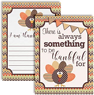 """I Am Thankful For"" Gratitude Thanksgiving Fill In Cards, Ten 4"