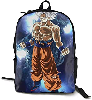 Dragon Ball Ultra Goku White Daypack With Padded Straps, Travel And Sport Backpack Rucksack Large Capacity College School Bookbag Multipurpose Anti-Theft for Boys Girls