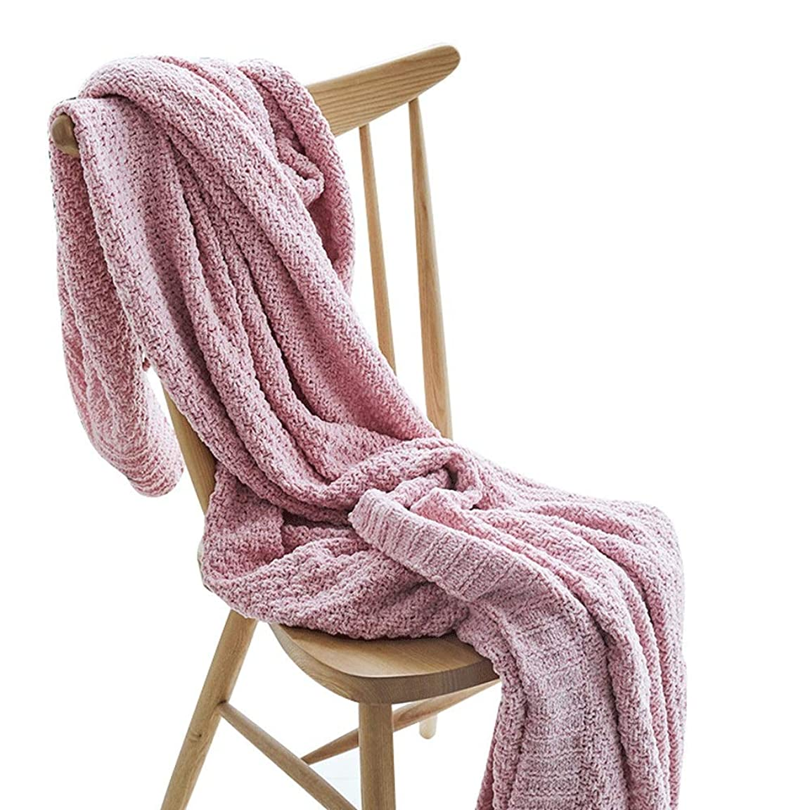 ヘビーペックマイクソフトカウチ毛布 カジュアルニットスロー毛布多機能レジャー毛布昼寝毛布ソファ毛布 ルームベッドルームビーチトラベル (Color : Red, Size : 130cmx180cm)