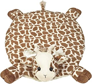 Bearington Baby Patches Belly Blanket, Giraffe Plush Stuffed Animal Tummy Time Play Mat