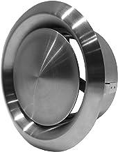 Ø 100 mm roestvrij staal afvoerlucht - plaatventiel - rond voor buisaansluiting Ø DIN 100 mm