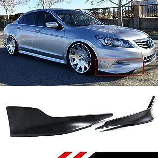 Fits for 2011-2012 Honda Accord 4 Door Sedan JDM 2 Pieces Style Front Bumper Side Splitters Lip